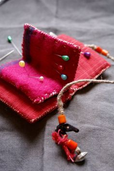 treasury / small needle book in Indian khadi cotton by lesamovar