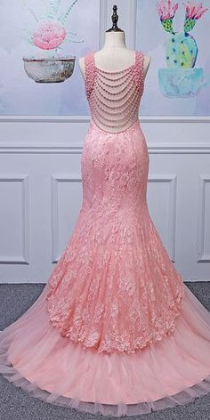 Alluring Tulle Jewel Neckline Mermaid Evening Dresses With Lace Appliques & Beadings Glamorous Evening Dresses, Mermaid Evening Dresses, Evening Gowns, Prom Party Dresses, Bridal Dresses, Dinner Gowns, Nice Dresses, Formal Dresses, Prom Dress Shopping