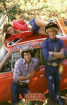 Vintage Cars Dukes of Hazzard TV Show Cast Rare Vintage Poster - A great Dukes of Hazzard poster - Bo, Luke, Daisy, and the General Lee from the classic TV Show! 80 Tv Shows, Old Shows, Great Tv Shows, Movies And Tv Shows, Cinema Tv, Films Cinema, Childhood Tv Shows, My Childhood Memories, Hollywood