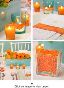 Orange table decoration