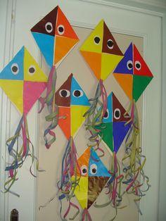 Kites, Pre School, Preschool Activities, Halloween, Spring, Painting, Early Education, Carnival, School