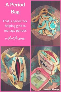 Find out how to make your daughter's first period much easier by finding the best period bag for tween girls, that will make managing periods much easier. Emergency Kit For Girls, School Emergency Kit, Girl Survival Kits, School Survival Kits, Bags For Teens, Girls Bags, Period Starter Kit, First Period Kits, Period Party