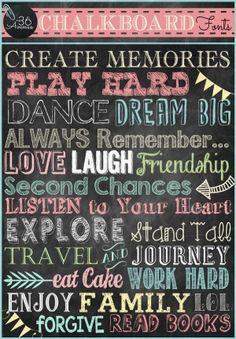Chalkboard Free Fonts by Melissa141