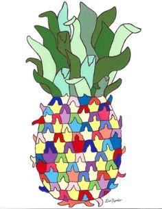 Happy Pineapple Print