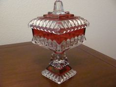 Vintage Carnival Glass Pedestal Candy Dish by catherinefarrens, $8.99