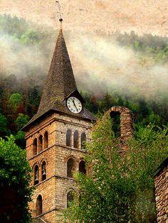 Santa Maria d'Arties, Valle de Arán,, Lleida. Spain.