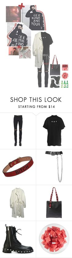 """""""♚ Shopping with Siyoung & Yujin ♚"""" by official-tao ❤ liked on Polyvore featuring Yves Saint Laurent, Lazy Oaf, Saddlers Union, Zana Bayne, My Mum Made It, Les Hommes and FRUIT"""