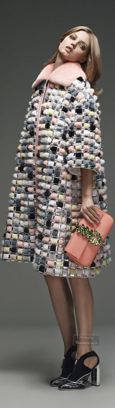 Fendi Pre-Fall 2015 #Fashion #Women_Style