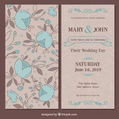 Floral wedding card - Freepik.com-Invitations-pin-34