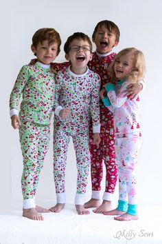 420f6f2fa2 DIY Christmas Pajamas - Sew pajamas with this FREE pattern