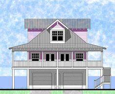 Classic Florida Crack Beach Home Plan - 44041TD   2nd Floor Master Suite, Beach…