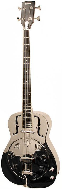 Ozark 3516 Resonator Bass Guitar Metal Bodied Electro Acoustic - Could be interesting....K