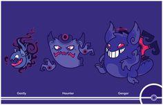 Pokemon Redesign #092-093-094 - Gastly, Haunter, Gengar