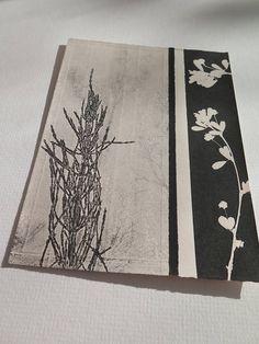 Small hand printed original botanical print by Stef Mitchell.