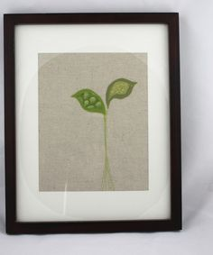 Simple, unique, fabric art - I think this wants to live at my house :D #wall #hanging #fabric #art #modern #green