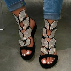 HOT Fashion Women Sandals Shiny Sequins 2020 Summer Outdoor Beach Open Toe Flat Heel Causal Rhinestone Ladies Shoes Plus Size Beach Sandals, Flat Sandals, Gladiator Sandals, Summer Sandals, Flat Shoes, Bohemian Sandals, Summer Heels, Beach Shoes, Women's Shoes