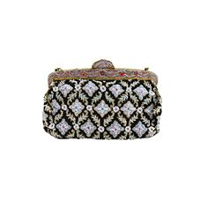 1950's Beaded Floral Evening Bag with Exquisite Frame | From a collection of rare vintage evening bags and minaudières at https://www.1stdibs.com/fashion/handbags-purses-bags/evening-bags-minaudieres/