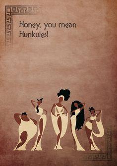 Hercules inspired design (The Muses).