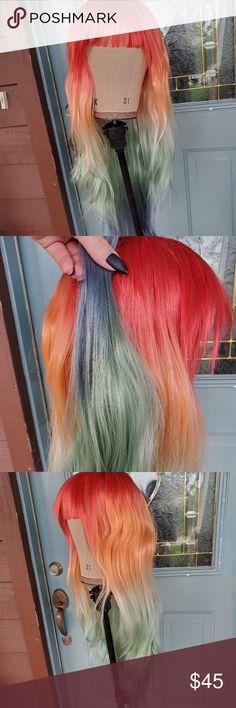 Brand New Rainbow Bob Pet Wig