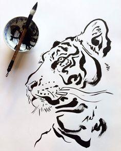 Get tiger drawing HD Wallpaper [] asugio-wall.tech - Get tiger drawing HD Wallpaper [] asugio-wall.tech Get tiger drawing HD Wallpaper [] asugio-wall. Animal Sketches, Art Drawings Sketches, Tiger Sketch, Tiger Illustration, Ink Art, Painting & Drawing, Tiger Painting, Japanese Art, Art Inspo