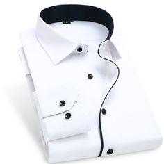 Encontre mais Camisas Formais Informações sobre 2015 moda Patchwork Color Blocking homens camisas de vestido 095 BM de manga comprida de abertura de cama colarinho da roupa dos homens Camisa Masculina, de alta qualidade Camisas Formais de Beyond Your Expectation em Aliexpress.com