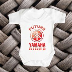 Future YAMAHA Rider Brand New Baby Romper Babies by FunnyBooShirts, $19.99