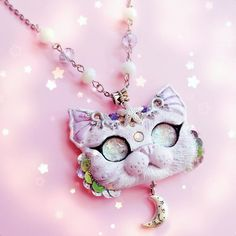 Mercat purrmaid kitty necklace by FleurDeLapin