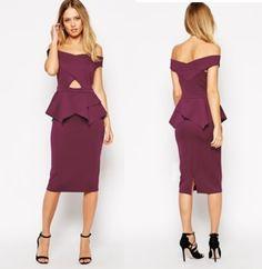 0333ef41b1c Short Sleeve Business Zipper V Neck Pencil Dress
