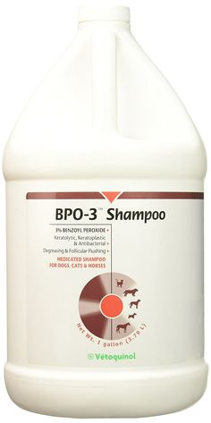 Vet Solutions BPO 3 Shampoo 3% Benzoyl Peroxide (Gallon) -- You can get additional details at the image link. (This is an affiliate link and I receive a commission for the sales)
