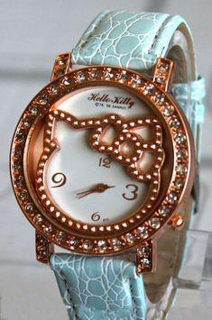 Hello Kitty**Crystal Fashion Quartz Wrist Watch NEW