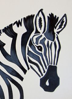 Zebra 12x16  Acrylic painting with UV coating