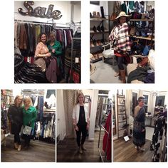 Ladies having fun at the fundraiser shopping party for Noe Valley Nursery School at our brand new beautiful store on 24th St.