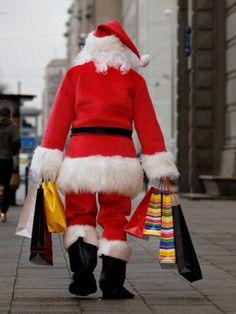 santa local holiday shopping