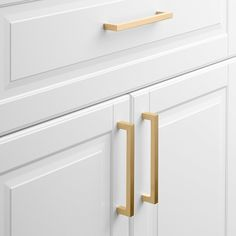 Edgecliff Pull - Natural Brass
