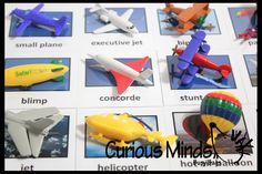 In the Air Transportation Replicas to Matching Cards - Match Airplanes, Jets and other Miniatures to Photos