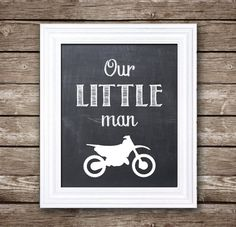 "Our Little Man - Dirt Bike / Motocross / Motorcycle - 8x10"" Printable Artwork for Boy's Room - Instant Download"
