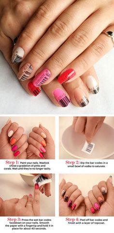 Barcode Nails - so cool