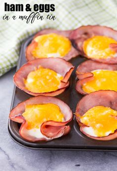 Ham & Eggs in a Muffin Tin - A quick and easy breakfast for a low carb lifestyle!