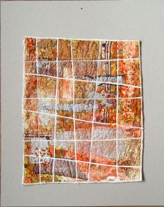 "Bozena Wojtaszek ""Orange snow"", textile art"