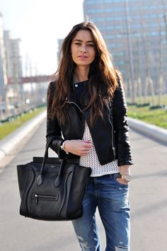 Celine bag, Leather Jacket