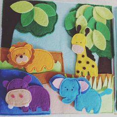 #safari #felt #quietbook