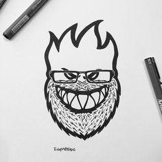 Spitfire Wheels by Rigour Studio #selfie #beard #skate #logo