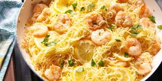 ​Garlicky Lemon Shrimp with Angel Hair: If you love shrimp scampi, you need this in your life.