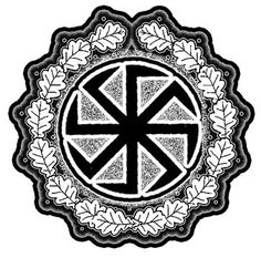 """The swastika shape was also present in pre-Christian Slavic mythology. It was dedicated to the sun god Svarog. For the Slavs the swastika is a magic sign manifesting the power and majesty of the sun and fire. It was usually called 'The wheel of Svarog'  """