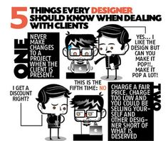 Infographic: 5 Things Designers Shouldnt Forget When Dealing With Clients
