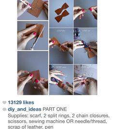 Camera scarf neck strap tutorial part 1