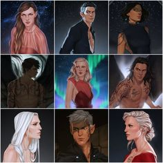My favourite characters of Throne Of Glass and A Court Of Mist And Fury ♥♥