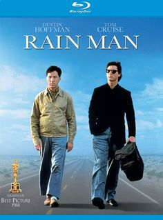 Rain Man * 1988 Barry Levinson film starring Dustin Hoffman and Tom Cruise. Hoffman plays a savant in this film, capable of remembering obscure details. Best Movies List, Movie List, Great Movies, Movie Tv, 2015 Movies, Dustin Hoffman, Man Movies, Drama Movies, Movies To Watch