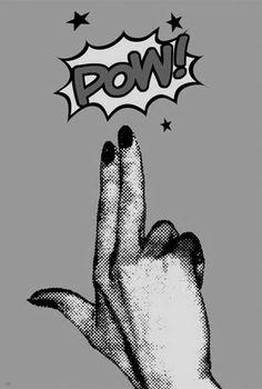 Imagen de pow, hand, and comic