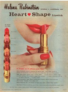 HELENA RUBINSTEIN AD HEART SHAPE AUSTRALIAN Vintage Advertising 1960 Original Ad #HELENARUBINSTEIN